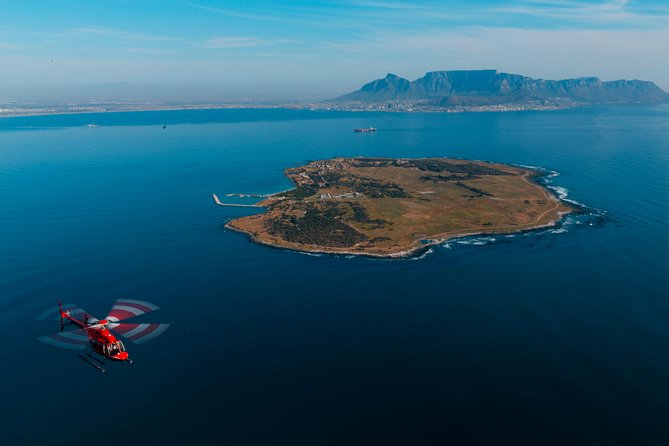 The most famous landmark is Robben Island where South Africa's former president Nelson Mandela was imprisoned all those years.<br><br>Our Robben Island Tour is the only helicopter tour that flies visitors around the island! It showcases the epic beauty of the area by heading directly to the southern tip of Robben Island and returning to the the V&A Waterfront along the picturesque Blouberg coastline. The view of Table Mountain is simply spectacular.