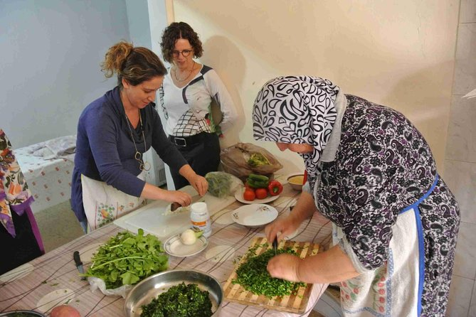 A unique opportunity to be welcomed into the home of an Israeli Arab in the Galilee and learn about the traditions, culture and food of the local villagers. In a hand-on cooking workshop you will learn to make a variety of local dishes and eat a typical Arab home cooked meal, that you prepared, under the guidance of your host. In addition, a visit to the colorful local market will add depth and understanding to the day's experience.
