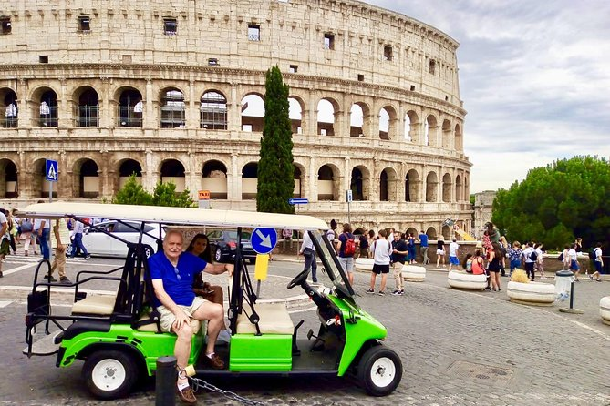 We will explore the city driving through some of the most beautiful places in Rome with an ecological and comfortable golf cart.<br><br>We can stop at each site and admire the beauties, take photos (we are also excellent photographers), visit monuments, fountains and admire the panorama of this wonderful city.<br><br>During the tour we will take you to try coffee or ice cream (at your expense)<br><br>We will spend 3 hours together and we are sure that we will have fun!!!!!!!