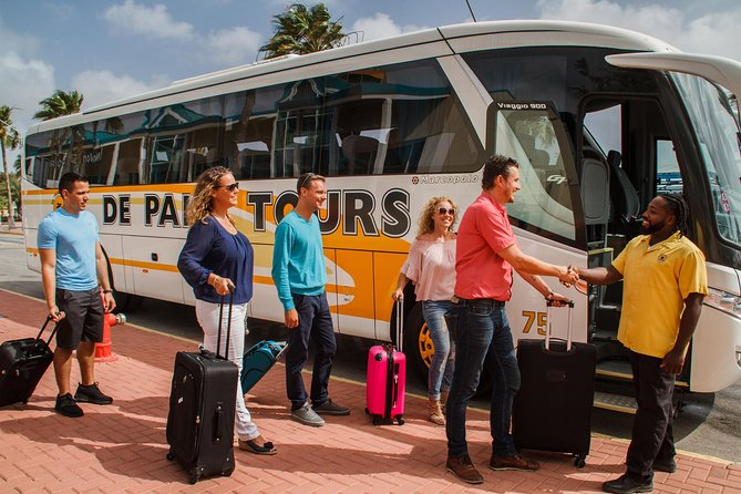 Whether it's getting to your hotel as soon as possible, or looking after the family following a long journey, the last thing you want is a long wait! Don't worry, when you fly to Aruba, a coach will be there waiting for you at the airport to ensure you a stress free and comfortable journey to your destination aboard a deluxe air-conditioned motor coach.