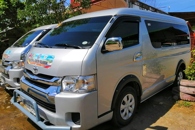 ° Free pickup at Puerto Princesa (PPS) Internatinal Airport anytime.<br><br>° Vehicle is Toyota Hi-Ace GL Grandia model 2017 with 12 comfortable sitting capacity. Airconditioned, clean & well-maintained vehicles.<br><br>° We have sober & experienced drivers in this route to take you safe & comfortable to your destination.<br><br>