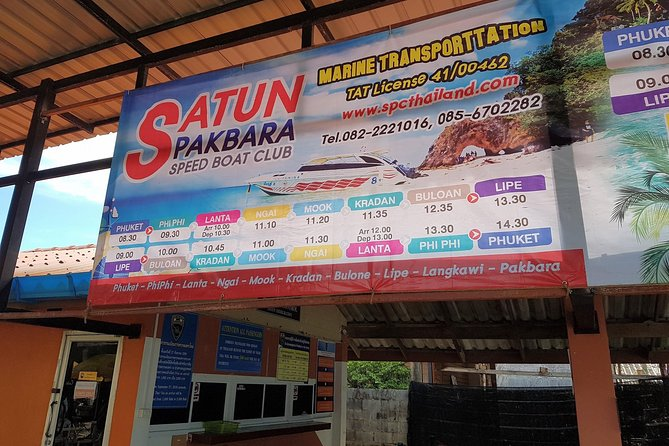 Travel daily from Koh Lipe to Hat Yai Airport with a stopover at Pak Bara Pier in Satun to switch from speed boat to minivan which brings you further to the departure terminal at Hat Yai Airport.