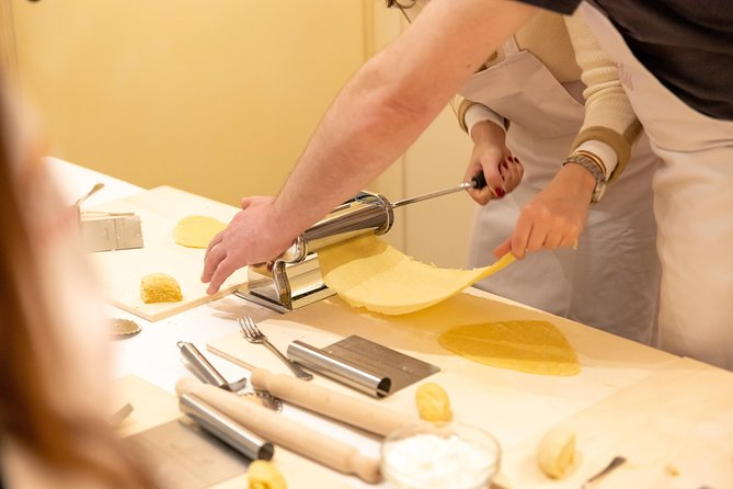 Immerse yourself in a private pasta and tiramisu-making classat the Cesarina's home,learn the secrets of the region's most famous pasta dishes and taste the fruit of your labour accompaniedbya glass of local wine. <br>During the lesson the Cesarina will reveal the tricks of the trade of 2 authenticregional pasta recipes and of the iconic tiramisu.<br>Have fun putting your cooking skills to the test. Each participant will have a workstation equipped with utensils and all the ingredients to make thedishes. Then, tasteeverything you have prepared accompanied by a selection of red and white local wines.<br>Le Cesarine is Italy's oldest network of home cooks all over the country in more than 120 cities. They are passionate and welcoming hosts that open the doors of their own homes to curious travellers for immersive culinary experiences.