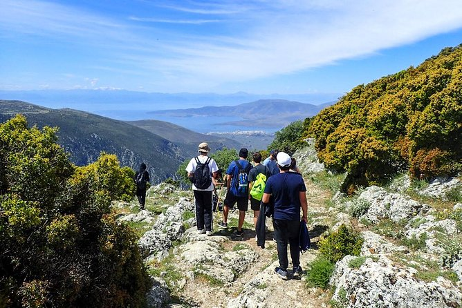 """A short but very comprehensive tour in the """"navel of the earth"""". A concise guided tour that includes: a visit to the archaeological site, a wonderful hike in the ancient footpath in the fir forested foothills of Mt.Parnasus plus a visit in the village of Arachova famous for its traditional textiles. All this is one day !"""