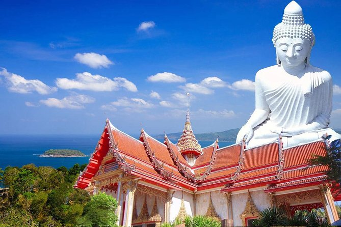 This five and a half hour tour brings you to the top attractions around Phuket Island including the magnificent Big Buddha.<br><br>Choose from a Morning Tour which has you winding along Phuket's southern shoreline, marvelling at white sands, lush tropical flora and the unique vibe of Patong, Karon, Kata and Rawai beaches. The photo opportunities will be particularly fantastic from two viewpoints and other stops at Wat Chalong Temple, The Big Buddha plus a cashew nut factory and the world's biggest gem store. You'll also drive through Phuket Old Town to see old Sino-Portuguese buildings.<br><br>Should you choose the Afternoon Tour, the focus is on the Phuket Old Town component as it is a Walking Tour. Stops are made at the cashew nut factory, The Big Buddha and Wat Chalong. Promthep Cape, Phuket's southern-most tip, is the last place you'll stop at where you will be mesmerised by the striking sunset (weather permitting).<br><br>The Shared Afternoon tour operates Mondays, Wednesdays and Saturdays only.<br>