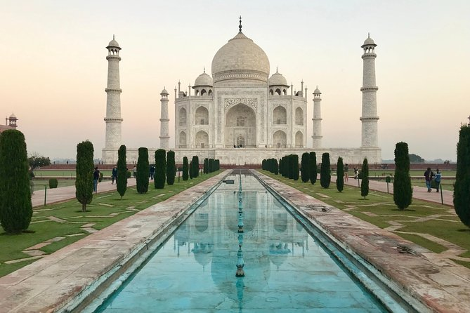 Witness India's one-of-a-kind architectural wonders on this 2-day private tour of Agra, a city boasting a large number of unique red-sandstone structures. Learn about India's Mughal Empire by exploring three of Agra's UNESCO World Heritage sites: Agra Fort, Fatehpur Sikri (the City of Victory) and the famous Taj Mahal. Find out about the third emperor of this empire, Akbar the Great, on a guided tour of Akbar's Tomb in Sikandra, and visit Fatehpur Sikri to see one of India's largest mosques. Overnight accommodation and private transportation included.