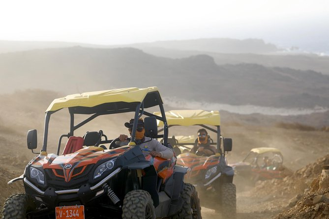 """Experience the best of both worlds on this UTV/Jeep excursion!<br><br>By Jeep, you will drive through Arikok National park and visit Arubas most famous Natural pool, """"Conchi"""" where swimming and snorkeling is offered. (Weather Permitting)<br><br>After your National Park adventure, board your UTV, and drive along the north coast of the island. You will visit the Natural Bridge, Bushiribana Gold Mill ruins, Cave pool """"Boca"""", Chapel of Alto Vista & Lighthouse.<br><br>On this new tour, you have the opportunity to cliff jump at TWO Natural Pools in one unique adventure. (Jumping optional)<br><br>Bring your excursion to a relaxing finish with our refreshing local lunch.<br><br>Stops:<br><br>California Lighthouse<br>Chapel of Alto vista<br>Bushiribana Gold Mill ruins<br>Cave Pool<br>Natural Bridge<br>Arikok National Park by Jeep<br>Natural pool """"Conchi"""" by Jeep"""