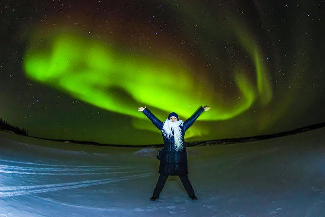 This 4-hour guided tour takes you on a mission to see one of the world's most famous natural phenomena: The Aurora Borealis! Also known as the Northern Lights, this tour takes you various places outside Yellowknife where city lights can't disturb your mission of experiencing the natural phenomenon.