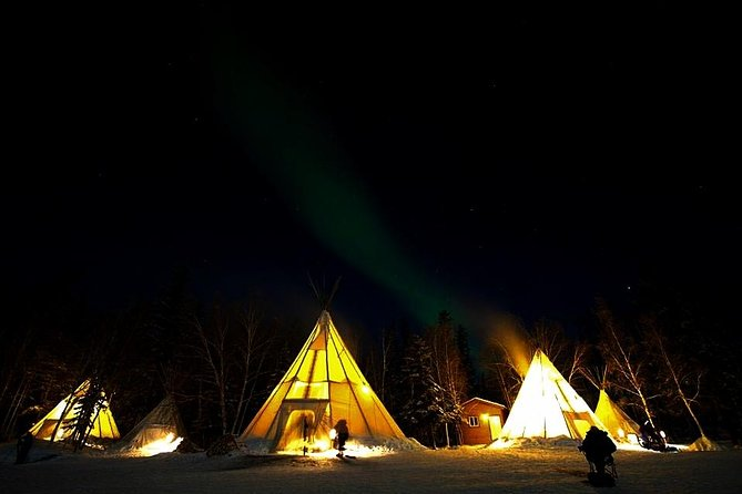 Hunt for the mystical Aurora Borealis, or more commonly known as the Northern Lights, and then dine at the classy Aurora Village lodge restaurant. The first 2 nights of your tour will take you into the wilderness to search for the best aurora viewing. Transportation is included to and from your hotel. On your third night, the tour takes you to one of the world's best aurora viewing facilities featuring heated tee-pees. Wine and dine at the Aurora Village camp whilst waiting for the Northern Lights to paint the sky for you. At the end of the tour your driver and guide will guide you back to your hotel.