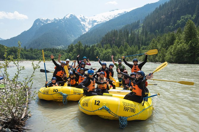 An exhilarating full day adventure on a class 3-4 river in a spectacular wilderness setting through the Squamish Valley. Hanging glaciers, towering mountains, cascading waterfalls, exciting rapids, lush rainforest, BBQ lunch, and a cliff jump - if you dare. <br><br>No prior experience is required.