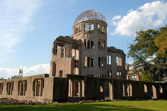 See Hiroshima's historic sites on this 13-hour tour from Osaka. Ride a bullet train to Hiroshima and then a boat to Miyajima Island, where you'll see the majestic Itsukushima Shrine. Then head back to Hiroshima to visit the Hiroshima Peace Memorial Park and Museum and explore exhibits that include remnants from the day the atomic bomb was dropped on the city in 1945.