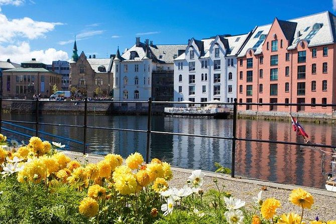 This half-day tour is a perfect introduction to Alesund, one of Norway's most picturesque towns & home to its most important fishing harbour. Alesund lies at the mouth of Stor Fjord and is set on two islands which are connected by bridges - it has been described as the Norwegian Venice.<br>As a result of the 1904 fire which destroyed most of the town, Alesund was rebuilt in stone instead of wood and is rich in a delightful art nouveau architecture of towers, turrets & medieval romantic facades. You'll find an abundance of stone neo-Classical and neo-Gothic buildings, with multiple towers, coats of arms and simple but original bas-reliefs.<br>The town also offers the fabulous views - you can take 400 steps up to the Kniven Overlook on Mount Aksla for stunning panoramic view of Alesund bay and its surrounding mountains & offshore islands.<br>You'll get to enjoy free time in this enchanting town before your transportation returns you to the port in plenty of time for your cruise ship's departure.