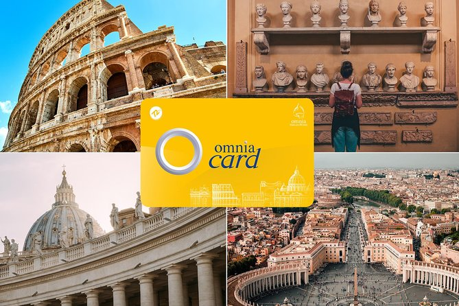 Free entry to Vatican Museums, Colosseum, Sistine Chapel, St Peter's Basilica and more.  <br><br>2 great passes rolled into one: <br><br>The Roma Pass allows free entry to 2 out of 6 top attractions plus discounts at 30 further top sights and a travel card. <br><br>The Omnia Vatican and Rome Card allows entry to all top sights in Vatican City plus a 3 day hop on hop off bus tour. <br><br>Explore Rome and Vatican City at ease with the Rome and Omnia Vatican card – two must-have 3-day sightseeing passes that include entry to selected attractions, discounts and more. Enjoy fast-track-entry to the Vatican Museums, Sistine Chapel and St Peter's Basilica with the Omnia Card. Use the Rome Pass for general entry to two out of five possible attractions such as the Colosseum. <br><br>Other features of the Rome Pass include a hop-on hop-off bus ticket, a central Rome travelcard, guidebook and map.