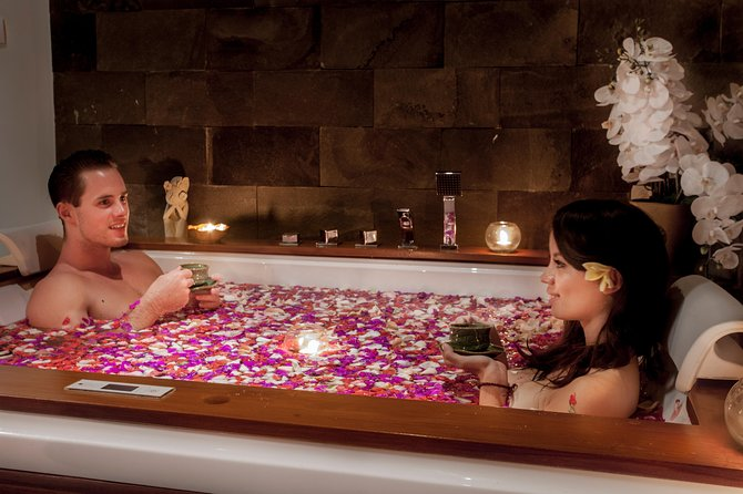 Couples may enjoy a romantic ambiance in this treatment as we let the couples to enjoy their intimate moment during their flower milk bath jacuzzi experience with a glass of champagne. This is a suitable experience for celebrating a special moment. For example, honeymoon, anniversary or even a present for birthday!<br><br>Guest is required to call or email the Anjali Spa to make a reservation for time confirmation due to limited space and therapist. Anjali Spa will not responsible for any unavailable therapist for not making a reservation in advance.