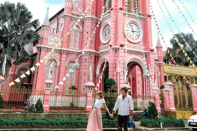 "If you're planning a trip to Vietnam, the iconic city of Ho Chi Minh will already be on your itinerary. To make sure you don't miss out on any of the best spots, let us show you around on our Ho Chi Minh Instagram Tour!<br><br>Forget everything you think you know about guided tours when you come with us - there are no stuffy silences or boring monologues here!<br><br>=====<br>Tour Schedule <br>10:00 AM – Pick up at your hotel<br>10:15 AM – Arrive at the Notre Dame Cathedral<br>10:45 AM – Visit The Central Post Office <br>11:45 AM – Visit the ""Pink Church""<br>12:30 PM – Explore a hidden weapons bunker<br>1:15 PM – Lunch Time!<br>2:45 PM – Visit the Ho Chi Minh Squares (People's Committee)<br>3:00 PM – Stroll along Nguyen Hue Street and grab views of Bitexco<br>3:30 PM – Visit Instagrammable boutique shops and enjoy coffee & dessert!<br>4:30 PM – Visit the Minh Dang Quang Pagoda<br>5:15 PM – View the tallest building in HCMC and relax in a secret spot by the river<br>6:15 PM – Arrive back at your hotel"