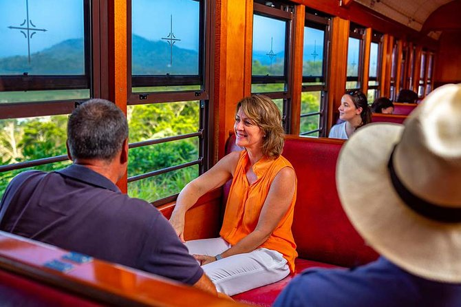 Experience the rainforest beauty of Tropical North Queensland on a scenic day trip from Cairns. There are five options to choose from that provide different activities, so select what interests you most. All options include a journey on the historic Kuranda Scenic Railway and a ride on the Skyrail Rainforest Cableway. Other Package Options include Tjupakai Aboriginal Cultural Park or Rainforestation Nature Park, and you'll have free time in the village of Kuranda to browse its markets, have lunch or visit wildlife attractions like Birdworld or Kuranda Koala Gardens. (Food, drinks and activities in Kuranda are at your own expense, unless otherwise stated.)