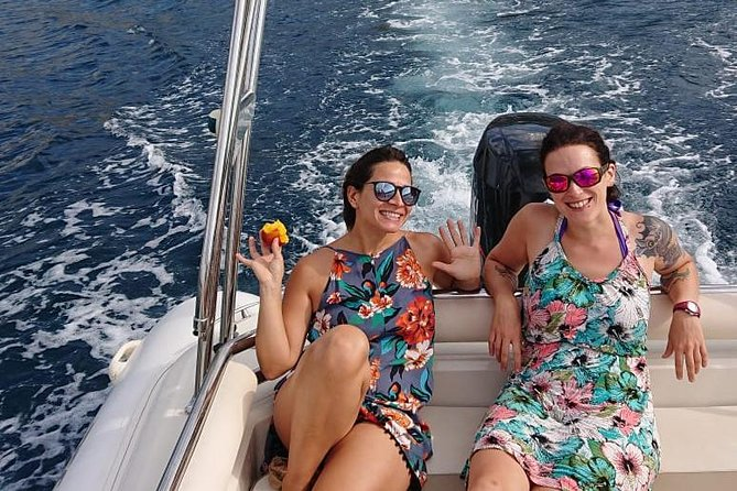 Our English-speaking captain will welcome your private group aboard our high-end motorboat, and whisk you off to discover the beautiful Cannes coast with freedom that others can only dream of! <br><br>______<br>From the pristine Lerins islands with its crystal-clear, shallow waters, to the hidden volcanic-rock creeks of the Esterel to the famous Cannes Croisette… this is an experience you won't forget in a hurry! <br><br>______<br>You'll have a chance to swim and snorkel in the islands' calm waters and explore their unique nature, well away from the crowds. Dolphins are sometimes spotted in deeper waters. We'll cruise around in comfort, check out creeks that are hard to reach by foot and perhaps finish off at a nice beach bar for a coffee or drink. <br><br>______<br>This is how Cannes was meant to be experienced!