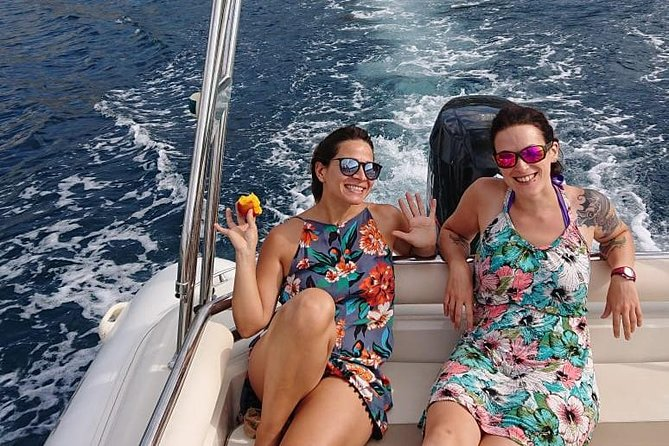 Hop aboard Mojito, our high-end RIB motorboat, and you'll discover the beautiful Cannes coast in a way others can't. From the pristine Lerins islands, where the 'Man with the Iron Mask' was imprisoned, to the hidden volcanic-rock creeks of the Esterel to the famous Croisette… this is an experience you won't forget in a hurry! <br><br>We accept a maximum of only 8 (comfortably seated!) guests aboard. Usually groups are 4-6 people, meaning the trip can be tailored and it's a great way to make new friends. <br>______<br>You'll be able to swim and snorkel in crystal-clear waters and explore the pristine nature offered by the islands, away from the crowds. Dolphins are sometimes spotted in deeper waters. We'll cruise around in comfort and<br> check out creeks that are hard to reach by foot. <br>______<br>Our beautiful boat comes with plenty of sunbathing space, bluetooth speakers and an onboard fresh-water shower... this is how Cannes is meant to be lived!