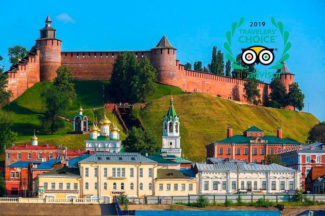 Get a unique chance to explore the best of Nizhny Novgorod on foot, enjoy the natural beauty of the city and get the most out of your experience by visiting its main hightlight - Kremlin, located right in the city heart, easily accessible from any place you stay in Nizhny. It`s a highly impressive medieval fortress combining both traditional Russian and Italian construction technologies, inside there is a public garden with several administrative and heritage building and a fascinating hilltop view of the two rivers the Oka and the Volga.<br><br>During the tour you will see:<br>• Kremlin<br>• Chkalov staircase<br>• Minin and Pozharsky Square<br>• Archangel Michael Cathedral<br>• Arsenal<br>• Governor`s house<br>• Eternal Flame monument WW2<br>• WW2machinery<br>• Kozma Minin tombstone<br>• Column monument to national heroes<br>• Guaranteed skip-the-line entrance