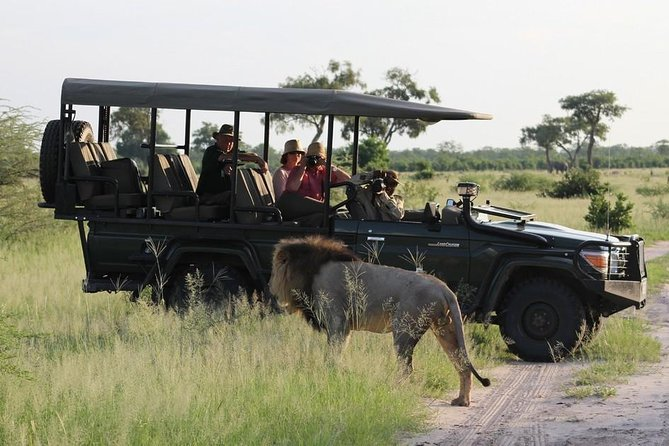 Enjoy a rare opportunity to experience a unique encounter of the wildlife in the untamed Bush of chobe.The day trip is a fully day safari that includes a cruise on chobe river,a five course buffet lunch and a game drive into the chobe national park. Arnolubi safaris staffs will pick the guests from there respective lodge or hotels around L/stone and begins a road transfer to the border, Once there,you will go through immigration process and the speed boat awaits for your transfer across and the Botswana guide awaits for your transfer to chobe safari lodge to embark on a morning cruise. This water cruise gives you a unique chance to view the abundant wild animals of chobe on the bank of chobe river and sedudu island.Lunch will be served at chobe safari lodge. And after lunch, you will venture into chobe national park in an open 4x4 game drive vehicle. The game drive's land based safari heads deeper into the park to spot elusive cats and elephants that make chobe there home.<br>