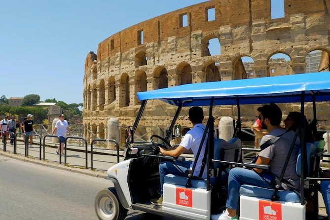 We will explore the city by driving through some of the most beautiful sites in Rome with a large, eco and comfortable Golf Cart!<br><br>We can stop at each site and admire its beauty, take photos (we are also excellent photographers), visit monuments, fountains and admire the panorama of this wonderful city.<br><br>During the tour we will take you to enjoy coffee or ice cream (at your expense).<br><br>We will spend 3 hours together and we are sure that we will have fun !!!
