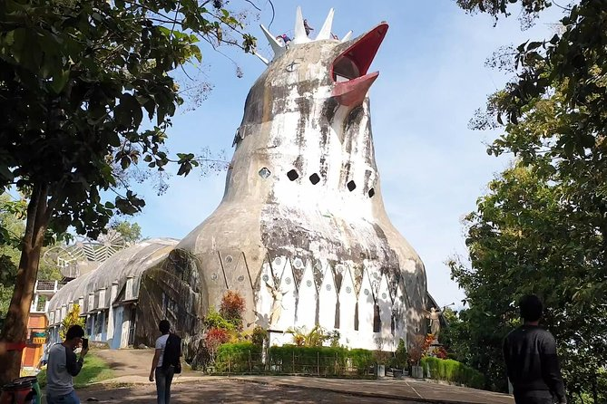 Chicken church is the biggest building shaped like a dove in Indonesia. Many people knowing this place as a church but actually the building play a role as House of Prayer For All Nations. <br><br>This building also symbol of the multi-culture of Indonesia. So when you are visiting you will see the building for prayer in many religion with beautiful scenery.<br><br>In the behind of the building, you can enjoy nature at the coffee shop called Kedai Rakyat Bukit Rhema. At this place, you can redeem your ticket with free snack who made from local people
