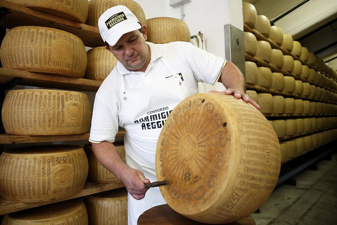 Enter a world of parmigiano-reggiano cheese on a 2-hour visit to a Parma 'caseficio' (cheese factory). Watch the cheese makers at work as they separate the whey and shape the cheese into wheels. Before you leave, finish with a tasting of cheese paired with honey and regional wine.