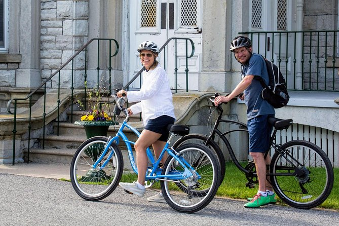 Welcome to exploring Kingston in a new and unique fashion... by bike!<br><br>Join us for a leisurely relaxed 2.0 hour bike tour of Kingston. The tour is roughly 11 kilometres (just under 7 miles) long and will show you many of Kingston's Historical landmarks and attractions of one of Canada's most scenic and beautiful cities. You will enjoy the fresh air experience combined with a little physical activity, experiencing much more of Kingston than you would walking or driving.