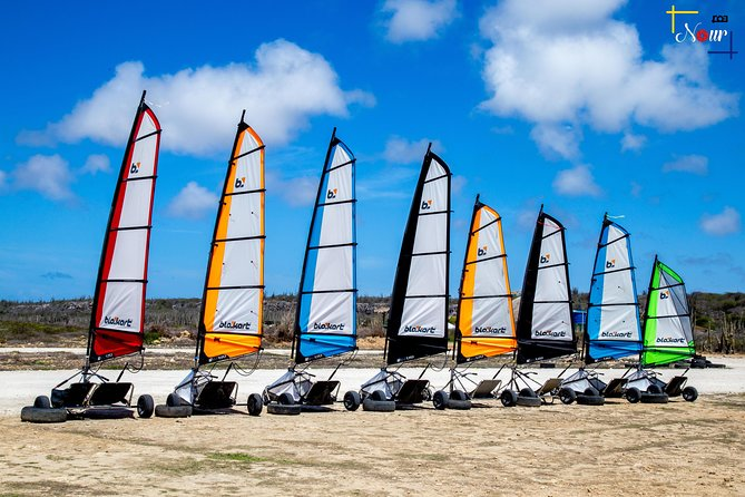 "This is unique! Chances are you've never been landsailing. That's okay. No experience necessary. Bonaire has the perfect conditions and we have the ideal location. Sailing a blokart is super easy to learn. We'll give you a 10 minute lesson to ensure you have the most fun during your time on the track. This activity is for everyone because you control the speed. So, those wishing to take it easy and enjoy a leisurely, wind-powered sail can do so, and those wanting a full dose of adrenaline will also enjoy themselves. We have two shadow (double) blokarts available so small children or elderly parents can ride in the ""side car"". No excuses for not participating as we recently had a 91 year old lady experience landsailing at our track. Join us for the most fun you will have on 3 wheels!"