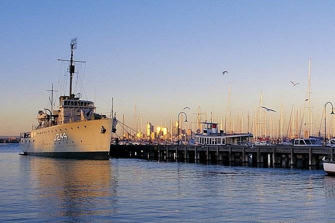 The City and Williamstown Ferry offers visitors an historic coastal village experience. Cruise past Melbourne's shipping channels on your journey to the old maritime seaport of Williamstown. Spend the day sipping coffee at a sidewalk café or discovering quaint shops and galleries, before taking a leisurely cruise back to the city.