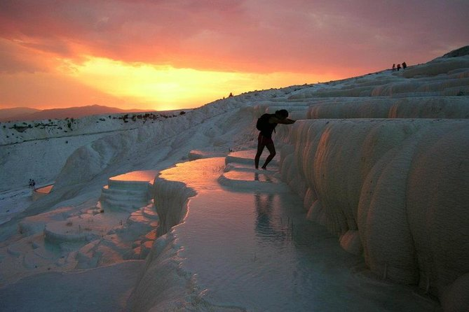Pamukkale has around 2 million visitors every year. Travertines and Hierapolis are recognized as UNESCO World Heritage Site in 1988.