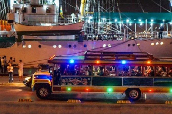 Rumba en autobús de fiesta en Chiva, Cartagena de Indias, COLOMBIA