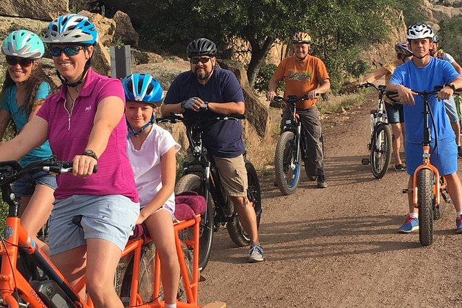 An experience you'll never forget. Whether you are a bit out of shape, have knee problems or just want to have oodles of fun with friends and family our Pedal Assist E-bikes will leave you with nothing but SMILES FOR MILES.
