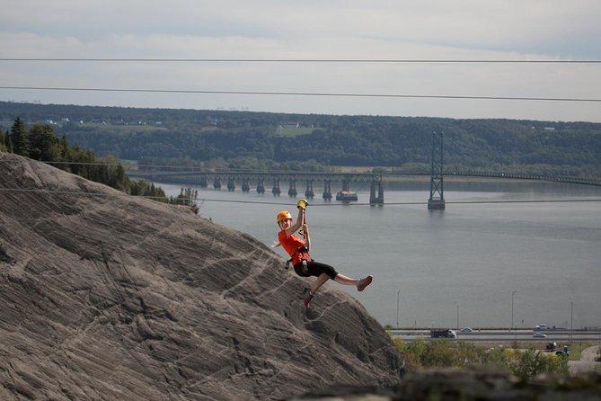 Parc de la Chute Montmorency Zip Line Over the Falls, Quebec, CANADA