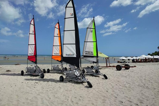 Land sailing lesson and guided downwind tour in a Blo-Kart, Jericoacoara, BRASIL