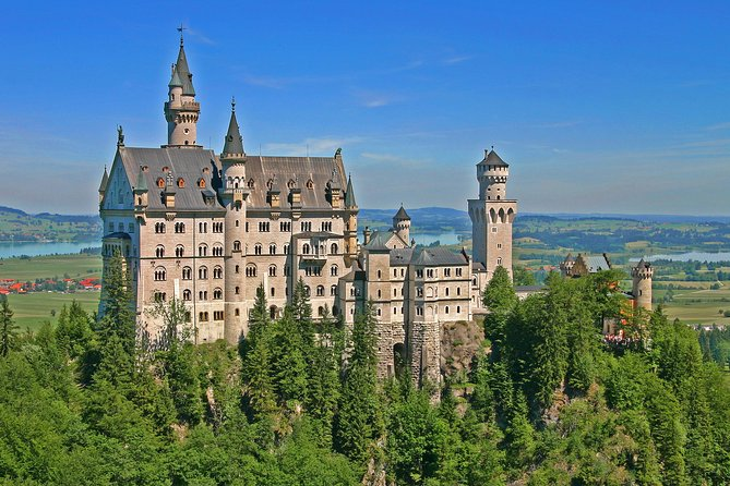 The enchanting old-world town of Fussen lies in the foot hills of the Alps, framed by one of the most breathtaking natural settings in the world. Traveling with your small group guided tour from Munich, you'll tour the ethereal Neuschwanstein Castle, be taken to the best vantage points; the lake, the postcard-perfect aerial view of the equally beautiful Hohenschwangau Castle and to the waterfall gorge.