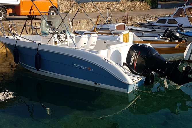 Welcome to our modern and sporty motorboat located in one of the most beautiful islands in Croatia. It can fit up to 6 people and it has everything you need for your dream vacation. Complete safety equipment, life jackets, lifejackets for children, fire extinguisher,<br>bimini-top under which you can protect from the Sun, bow anchor, swim ladder, swim platform, depth finder, fish finder, GPS, radio cd, chart plotter, complete navigation equip., sea charts, ships documents, operation manuals