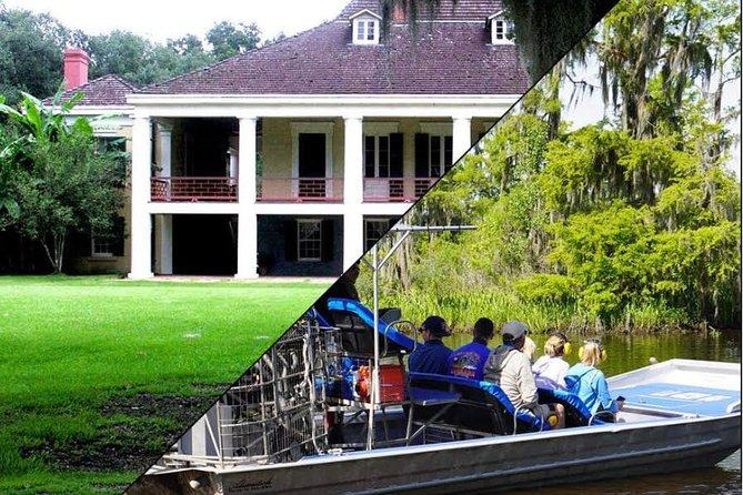 Experience two great New Orleans day trips in one with this 6-hour trip including Destrehan Plantation and an airboat swamp tour. Visit the oldest documented plantation in the lower Mississippi Valley followed by an exciting ride in a 16-passenger airboat.