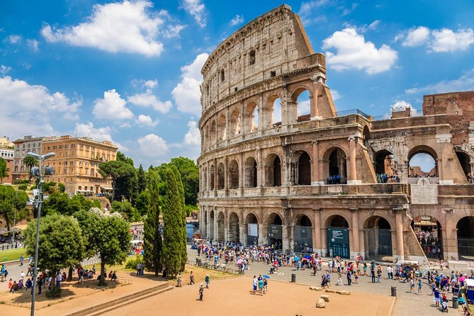 Leave those crowds behind and skip the lines with this 3-hour tour of the Colosseum, Roman Forum, and Palatine Hill. Explore the inside of one of the worlds greatest attractions that's waiting for you here in Rome. Let an expert guide educate and amaze you with facts and memorable tales of the glorious gladiatorial games you'll never forget.<br><br>Please note that your ID is required for under 18's