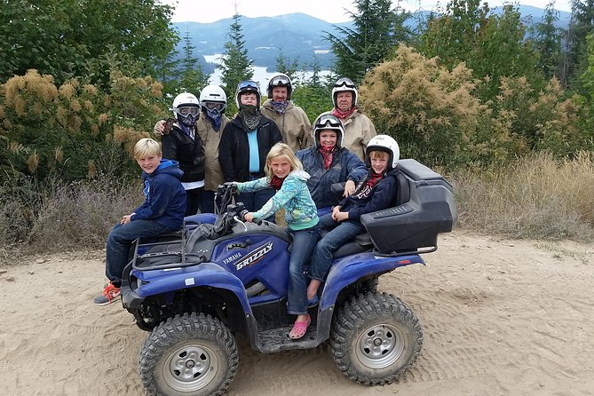 Enjoy a beautiful, adrenaline spiked off road ride through the North Idaho forest. Most tours observe three different alpine lakes (Fernan Lake, Coeur d'Alene Lake, and Haydend Lake). We provide atvs or utvs for guided tours. Participants can drive solo or up to 4 people in a utv. Our expert guides help you have a great time by matching routes to driver skill and showing the best viewpoints.