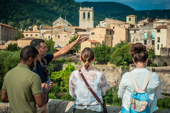Leave Barcelona and travel back to ancient times on this small-group tour of Catalonia's medieval villages. Visit the beautifully preserved villages of Besalú and Tavertet and learn interesting facts about these historical locations from your guide. Have free time in Rupit village to see the Baroque-era Church of Sant Miquel and have a traditional Catalan lunch (own expense) at a local restaurant. Take in views of the remains of the Castle of Rupit, Castellfollit de la Roca and the Cingles de Tavertet sandstone cliffs. This small-group tour ensures you'll receive personalized attention from your guide.