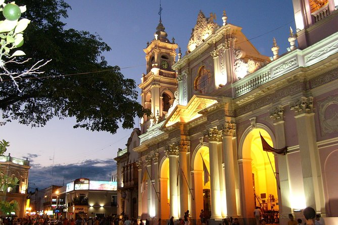 Get your bearings on this 3-hour Salta city tour, perfect for first-time visitors. See top attractions in this thriving metropolis with cultural museums and jewel-like Neoclassical buildings such as the Cathedral of Salta and San Francisco Church. Ascend San Bernardo Hill for panoramic views, visit sights commemorating Argentina's war for independence, shop at the Artisan Market and travel to the village of San Lorenzo, a subtropical retreat for the wealthy. Round-trip transport from most Salta hotels is included.