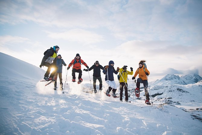 One of the best way to enjoy Lofoten is on foot, but let's mix it with something which make it possible to reach even the snow covered peak too. Come and join us on our daily half-day snowshoe tour. If you like hiking but you are also love with the winter landscape this tour is definitely the best choice.<br><br>You can enjoy the beautiful mountains of the archipelago, the frozen coastline during the winter even if you are not a winter sports expert. This short, 4hrs snowshoe hike is a great way to spend some time in the snow. Explore the winter wildlife, follow some animal tracks and inhale the stillness and peacefulness of the nature. During the short experience we will find the time and the best location to enjoy a nice hot coffee or tea and listen Lofoten's unique history from our expert guides. <br>To join this tour you don't need any previous experience. If you can walk, you can snowshoe and your guide will make sure about your safety and enjoyment during the day.<br><br>