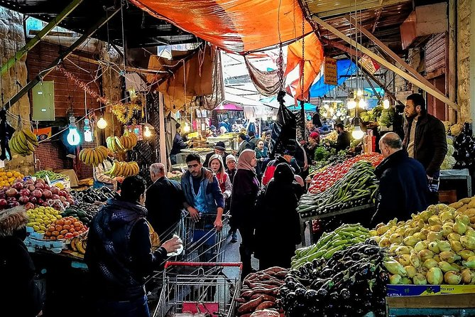 New to Amman?<br>Have friends and family visiting you in Amman?<br>Best introduction to all things to see and do in downtown.<br><br>The tour will take you throughout downtown Amman where tourists attractions are located. food produce market, sample bites, snap classic shots, mingle with locals as you go.<br><br>You visit famous eateries, popular cafes, bustling bazaars, traditional artisan shops, ancient ruins, street art, and much more with a knowledgeable guide. It gives you a feel for what life is like in this great city, we'll point out places you may wish to visit at a later time on your own at your leisure, like Rainbow Street and Paris circle