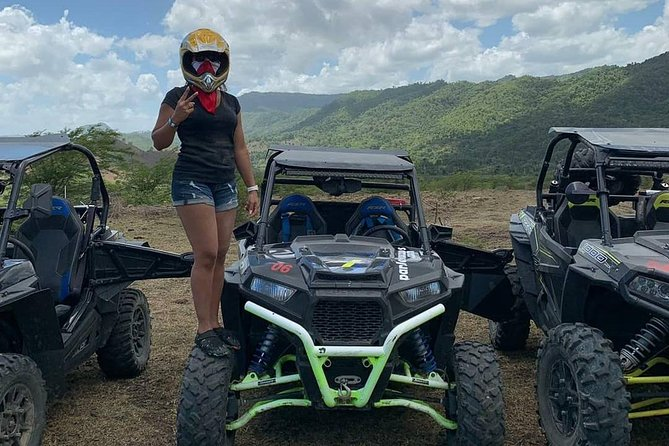You will experience an adrenaline-filled experience in the mountains of the Caribbean island,  welcome by the by the whistling of exotic birdlife,  visiting river with cave where you can swim.