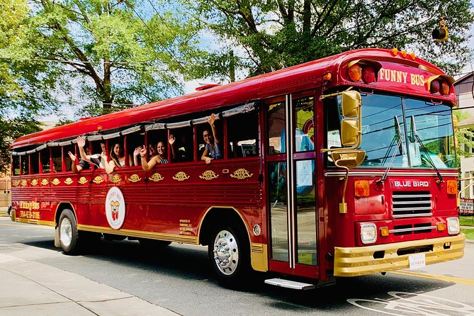 ExploreCharlotte's most interesting neighborhoods on this 90-minute bus tour with a comedic spin. As you cruise through town, a guide provides humorous commentary on the sights, sounds, and history of the Queen City. The jokes you hear on the comedy bus are like the ones you hear in a comedy club. They can get pretty 'raw,' so bring your own beer or wine. Sit back and enjoy this hilarious, adult-oriented tour and experience all theexcitement.