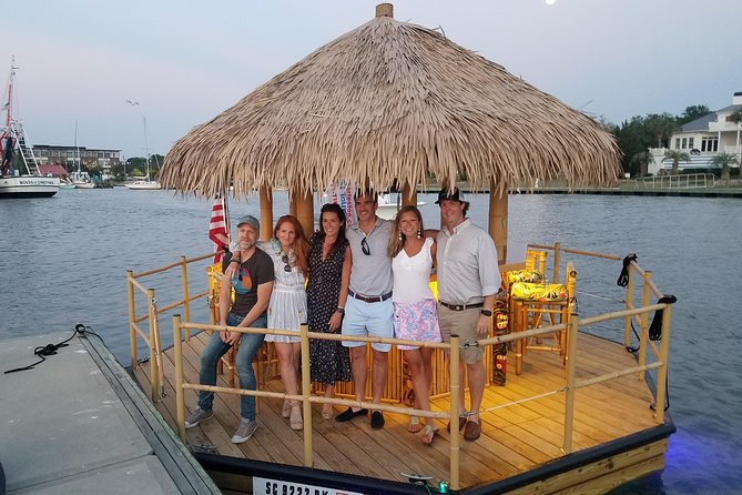 Get away, take a break as you cruise with us on this little slice of paradise. Our Tiki cruise tour will give you a Polynesian Island feel while enjoying the historic waters of the Lowcountry.