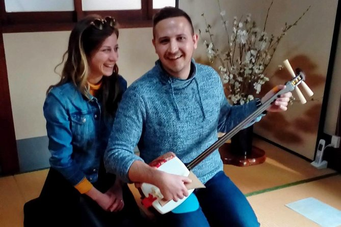 This experience can enjoy traditional music, culture and architecture at the same time. <br><br>Shamisen is a Japanese traditional instrument that resembles a guitar. The sounds play by the three strings are very beautiful and cool. It's a bit difficult, but everyone will surely feel fun. <br><br>I will teach you how to play a Syamisen. <br><br>Since I teach it from the basics, even a beginner is fine. We will practice the traditional Japanese song. <br><br>Finally, you play the Shamisen duo with me. <br>If you can play it well, you can do an ensemble of your shamisen and my koto. Let's try it!<br><br>After the experience, it is tea time with green tea and traditional sweets. While enjoying drinking tea, you can enjoy traditional Japanese manners. <br><br>The venue is a very precious traditional Kyoto architectural residence. Because it is a private residence, travelers can not usually enter. Only experience guests can enter the house specially.<br><br>