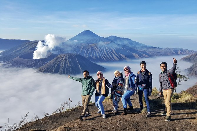 - Watch a scenic sunrise over Mount Bromo from the view point.<br>- Explore breathtaking landscapes surronding the mountain, including: Love hill, Widodaren (Dinosaur valley), Pura Luhur Poten temple, Mount Bromo's crater, the black-sand desert, savannah and also Rainbow waterfall (option with additional charge).<br>- Take a beautiful picture with stunning views of nature.<br>- Enjoy the convenience of transfer service to and from your hotel in Malang