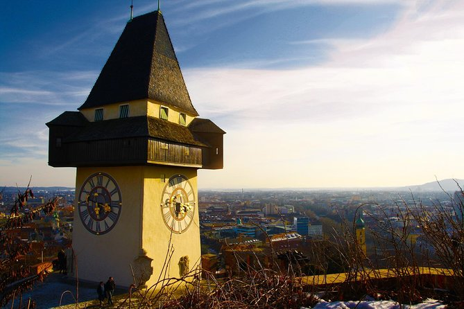 In this tour, visit the famous destinations of the city Graz. You will see:<br>-The Fortress , located in the city center.<br>-The medieval clock tower.<br>-The Graz Museum which defines the history of the city.<br>-The gothic and contemporary buildings of Altstadt.<br>-The Bronze Punk Statue located on the main square.<br>-The 15th century cathedral<br>-First Opera house of the city.